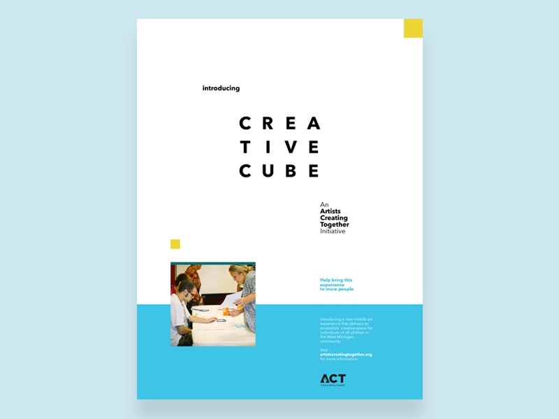 creative cube poster layout by dillon vrosh dribbble dribbble