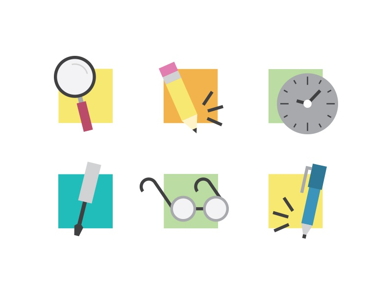Children's Science Educational Kit Icons