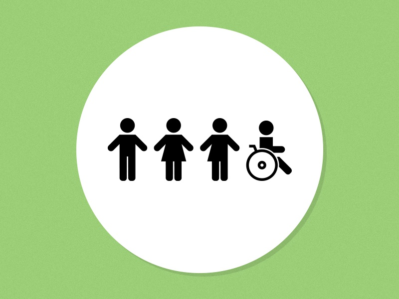 Inclusive Bathroom Icons Sign By Dillon Vrosh