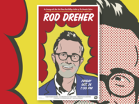 Rod Dreher Speaking Event Poster