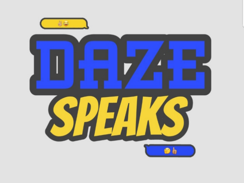 Daze Speaks PC art logo design drawing podcast branding brand logo