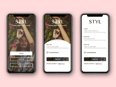 Daily UI Challenge #001 Sign Up app fashion sketch app design sign up challenge dailyui