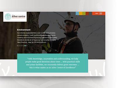 Arbor Centre –homepage tree roots ui arbor web deisgn brand identity design