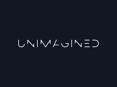 Unimagined – logo architechture sliced fine lines simple clean logotype wordmark logo design logo