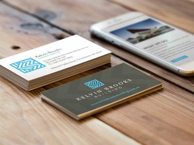 Kelvin Brooks Building – business card business card home builder art-deco sophisticated b k brand identity
