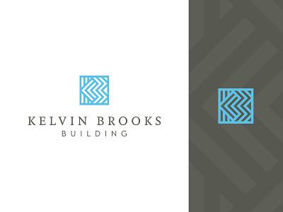 Kelvin Brooks Building – logo home builder art-deco sophisticated classy b k logo design brand identity design