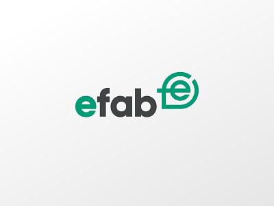 e-fab – logo shop drawings engineering fabrication speech bubble chat communication community ef icon logo design