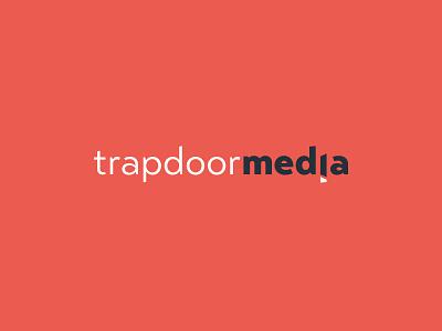 Trapdoor Media – logo ! exclamation exclaim door media trapdoor logo design