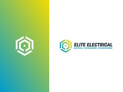 Elite Electrical – logo hexagon gradient electrical engineering logo design