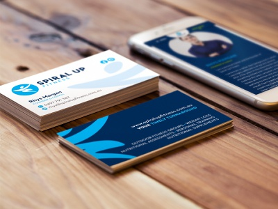 Spiral Up Fitness – business card personal trainer fitness business card brand identity design