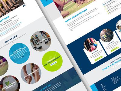 Spiral Up Fitness –website visuals fitness personal trainer ui web design brand identity design