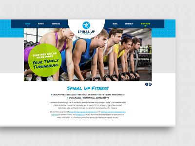Spiral Up Fitness – website homepage fitness personal trainer ui website design brand identity design