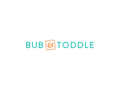 Bub & Toddle – logo alphabet blocks clean friendly playful toddler products baby products logo design