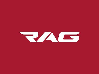 Rag Racing Western Australia –logo logotype typographic dynamic wordmark motorcycle racing motorsport logo logo design