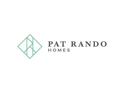 Pat Rando Homes –logo clean monogram home builder brand identity design logo logo design