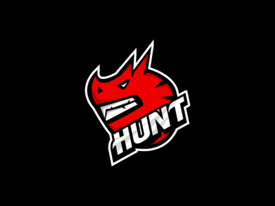 Hunt Dragon Mascot Logo.