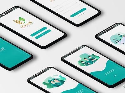 Beautify Indonesia Mobile App User Interface Design user interface design user interface mobile design mobile app design mobile app mobile ui mobile ux ui graphic design design