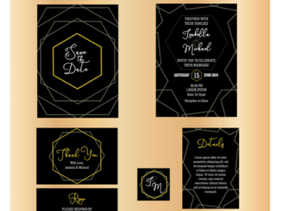 Luxury Wedding Invitation Kit card greeting bridal invitation wedding