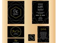 Luxury Wedding Invitation Kit