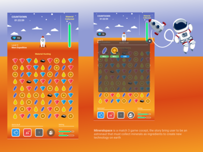 Match 3 Mineralspace