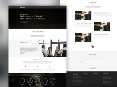 FREEBIE - One Page Corporate Agency PSD Template freebie one page free psd ui ux web design web template graphic design