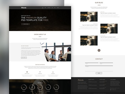 FREEBIE - One Page Corporate Agency PSD Template