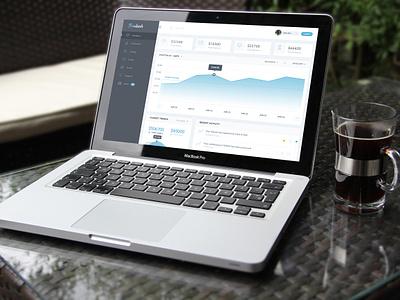 "[FREEBIE] Financial Dashboard ""Findash"" software app interface free template freebie free minimal ux ui finance dashboard"