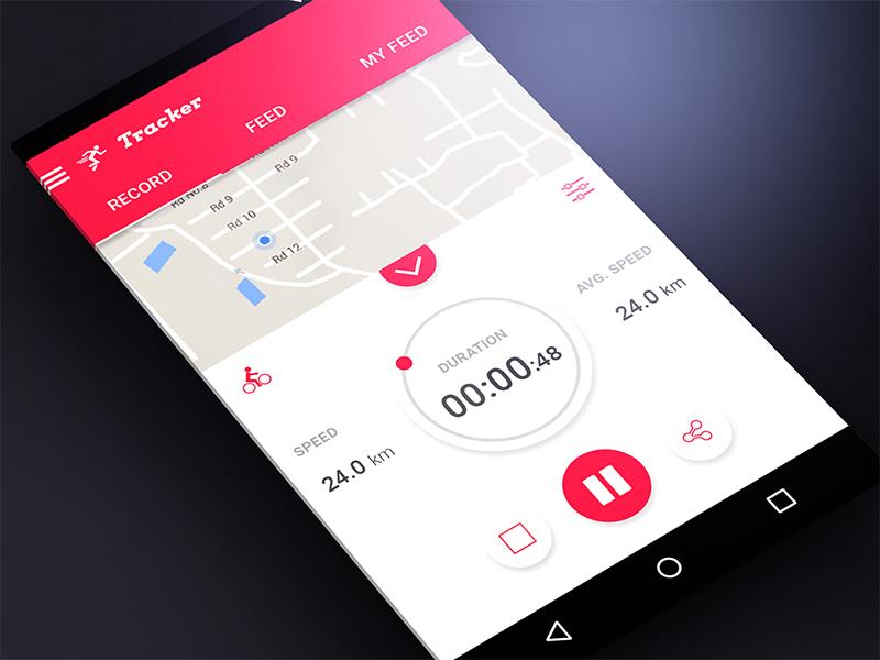 Activity Tracker App Material Design By Imran Khan Dribbble - Mobile tracker map