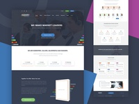Sales Marketing Software Landing Page