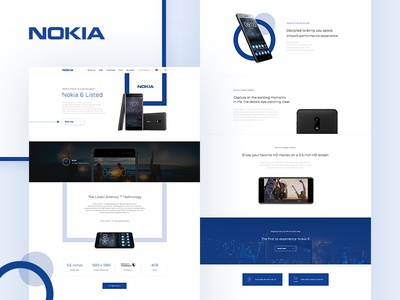 NOKIA 6 Landing Page Re-Design