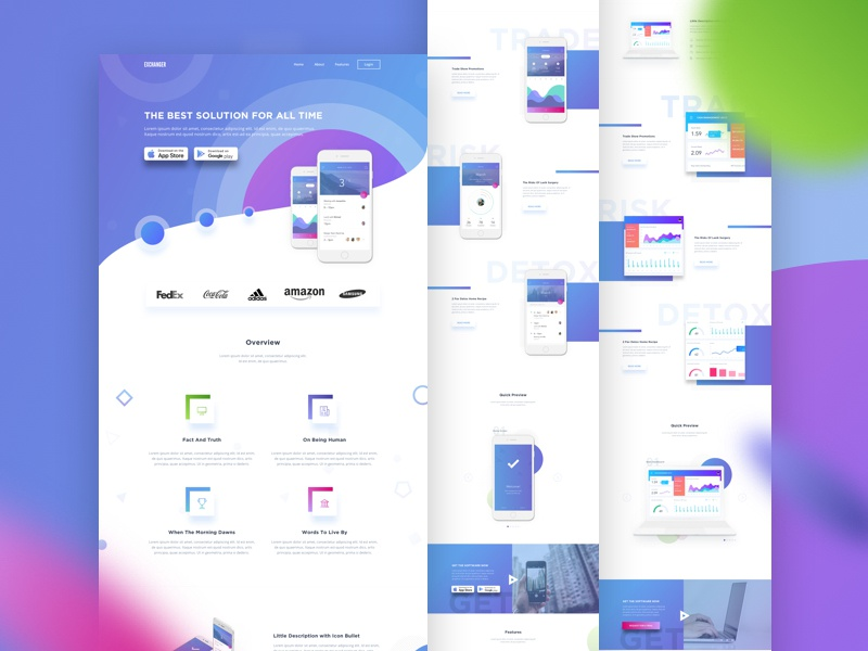 Saas & Mobile App Landing Page