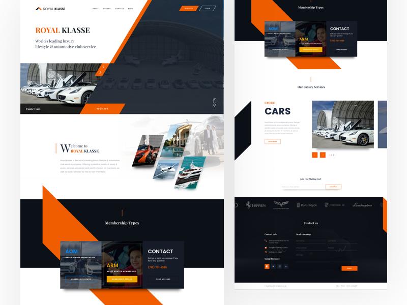 Website Design Experiment for Royal Klasse website web ui illustration interaction web typography ux ui design