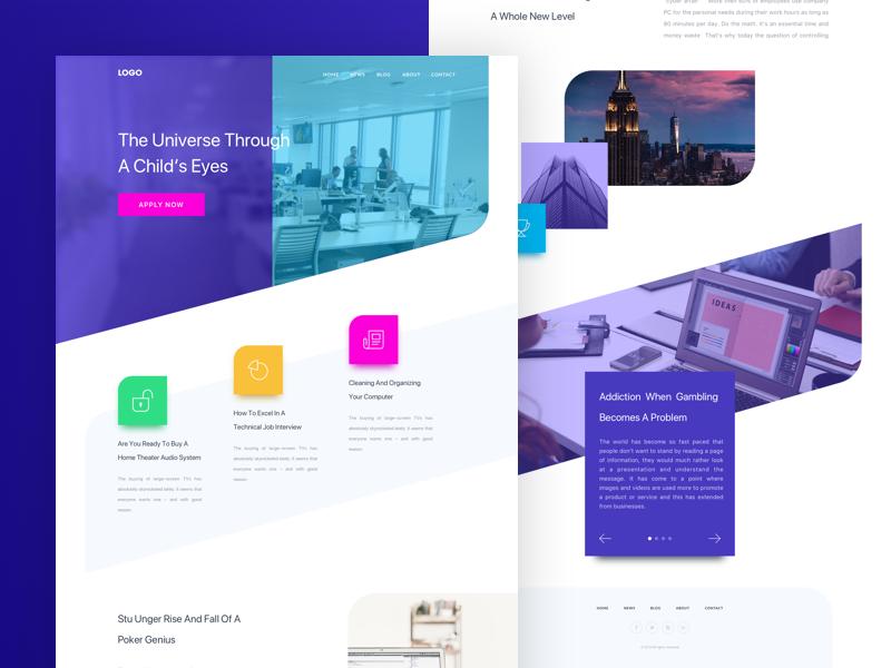 Website Design landing page website web ui illustration interaction web typography ux ui design