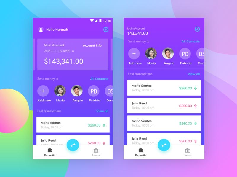 Financial App android app ios app interaction design fintech mobile banking app financial app ui design