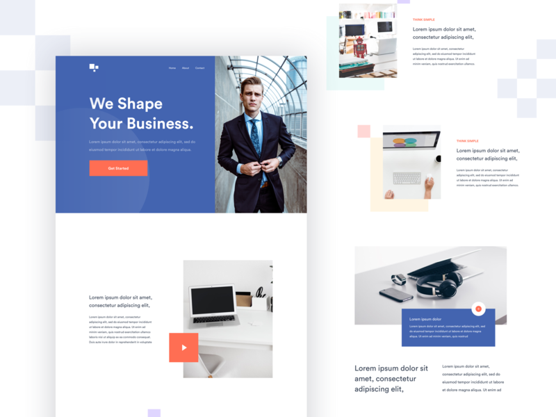 Homepage Design homepage design web design landing page minimal ux design ui