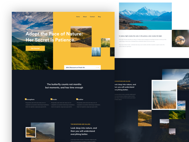 Creative Homepage Design Experiement nature website minimal clean app design web design 2019 creative agency agency creative design