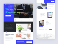 Advertising Agency Homepage Design web design clean creative website corporate website design blue website interaction landing page advertising agency design ux ui