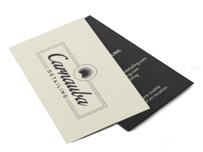 Carnauba Business Cards