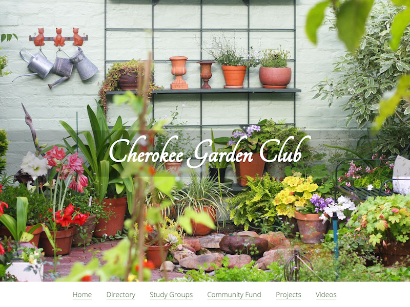 Garden Club gardening garden club simple beautiful above the fold plants flowers