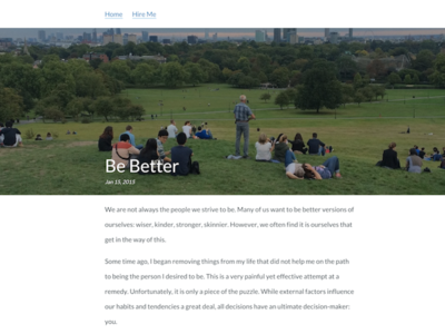 Blog Post Layout simple layout minimal post blog