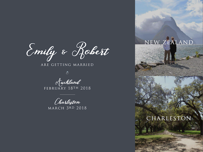 Wedding Website announcement save the date wedding
