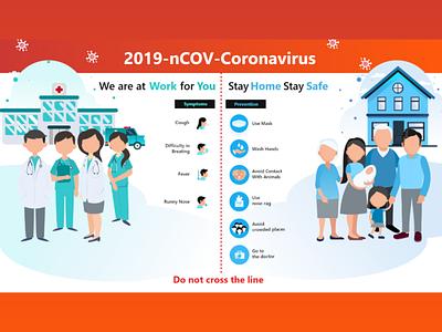 COVID-19 Prevention illustrator web design vector illustration