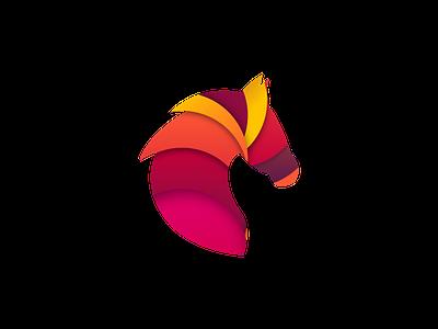 Horse Illustration sketchapp web vector illustration
