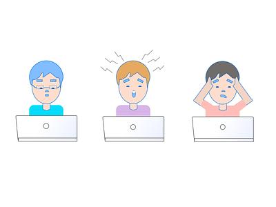 Remote working mood remote work design web vector illustration
