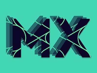 MX Identity Rebound design branding vector illustration