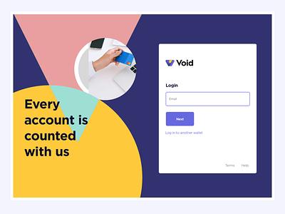 Wallet login flat app ux ui web design illustration