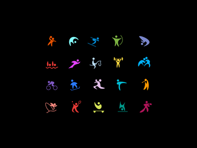 Free form Olympic  icon set