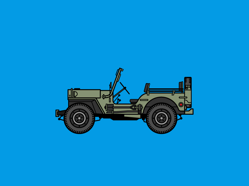 Auto Icons 06 - Willys MB jeep willys iconic car automobile
