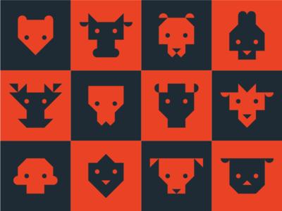 Chinese Zodiac animal geometrical zodiac china chinese