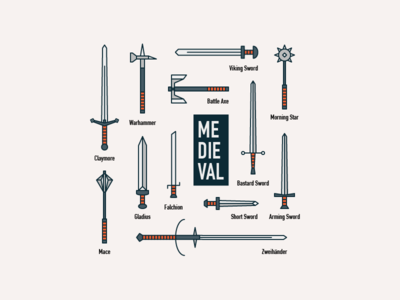Medieval! knight medieval sword weapon